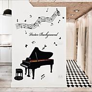 מדבקות קיר מדבקות קיר, מדבקות קיר PVC המוזיקה פסנתר הסגנון