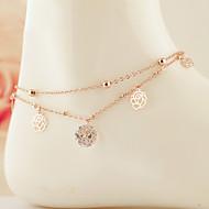 Dames Enkelring /Armbanden Zirkonia Kubieke Zirkonia Legering Uniek ontwerp Modieus Sieraden Gouden Vrouwen SieradenFeest Dagelijks