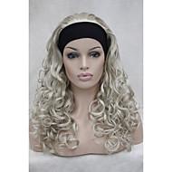 """Новый 3/4 парик с оголовья 24 """"длинные вьющиеся женских париков половиной ab102"""