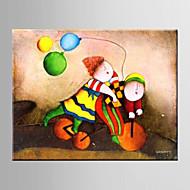pittura a olio astratta fumetto camera da letto mano i bambini di decorazione tele dipinte con tesa incorniciato l / xl