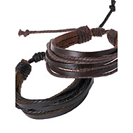 Unisex Fashion  Woven Leather Bracelet