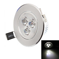 Downlight de LED 3 LED de Alta Potência 270-330lm lm Branco Quente / Branco Natural Decorativa AC 85-265 V 1 pç