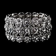 Paar/Damen Armbänder Charme Silber/Alluminium Strass
