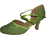עקב מותאם אישית - ברק נוצץ - לטיני/מודרני/נעליים סטנדרטיות - לנשים