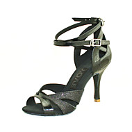 Customizable Women's Dance Shoes Leatherette Leatherette Latin / Salsa / Ballroom Sandals Customized HeelPractice / Beginner /