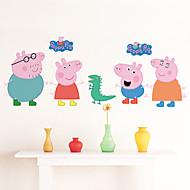 מדבקות קיר קיר PVC חזיר פפה מדבקות סגנון מדבקות קיר