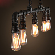 Retro Silk Industrial Plumbing Lamps Cafe Bar Restaurant Creative Chandelier