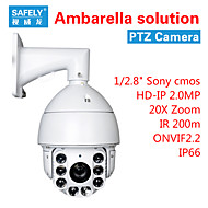 PTZ IP Camera 2.0MP IR-cut Day Night Waterproof Motion Detection (1/3 Inch Color CMOS Sensor)