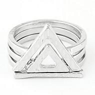 Women's European Style Fashion Trend Triangle Alloy Ring