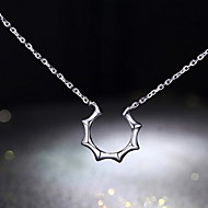 Couples' Silver/Titanium Necklace With Sun