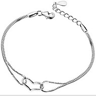 Women's Silver Chain With Bracelet
