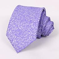 Purple Roses Tie