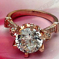G-H Color VS1 Lord Ring Plated 18K Rose Gold Jewelry 5CT SONA Simulate Diamond Ring Sterling Silver Engagement Jewelry
