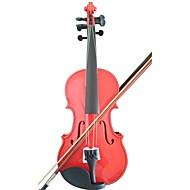 étudiant violon acoustique pleine épinette 1/8 d'érable avec le cas arc colophane