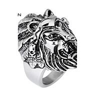 Kalen Men's Jewelry 316L Stainless Steel Mighty Lion Head Anima Ring