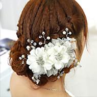 Mulheres Strass Capacete-Casamento / Ocasião Especial Flores 1 Peça Branco Flôr