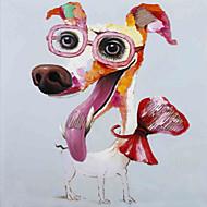 animaux peinture à l'huile peinte à la main chien abstrait toile murale art d'autres artistes un panneau prêt à accrocher