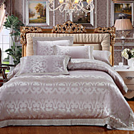 Floral Duvet Cover Sets 4 Piece Cotton Tencel Luxury Reactive Print Cotton Tencel Queen King 1pc Duvet Cover 2pcs Shams 1pc Flat Sheet