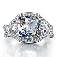 9*9mm 3CT Cushion Shape Engagement Ring Halo SONA Diamond Female Ring Sterling Silver Jewelry Brilliant Pt950 Stamped