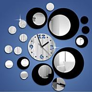 kreativní trojrozměrné kulatost 3d zrcadlo nástěnné hodiny