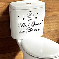 Wall Stickers Wall Decals Style Best Seat English Words & Quotes PVC Wall Stickers