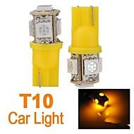 4X T10 194 168 Car Side Amber 5-SMD LED Wedge Bulb Light