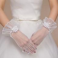 Net/Tulle Wrist Length Wedding/Party Glove
