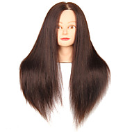 Synthetic Hair Mixed Animal Salon Female Mannequin Head with Make-up