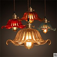 The copper cap Retro Old Shanghai flower glass chandelier