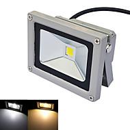 JIAWEN® Gray IP65 Waterproof 10W 980Lm 3000-3200K/6000-6500K Warm White Light /White Light LED Flood Light (DC 12V)