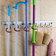 8 pozic hliníkový nástěnný mop smeták Držák skladování drobnosti držák nástroj domácí