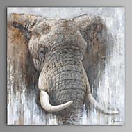 peinture à l'huile moderne main d'éléphant abstrait toile avec cadre étiré peint