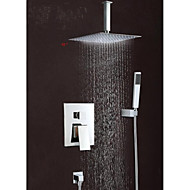 "Wall Mounted Rain Shower Faucet Set 12""Square Shower Head Bathroom Mixer Taps"