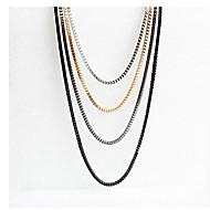Mixed Color Layers Necklace