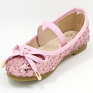 Girl's Flats Summer Closed Toe Tulle Casual / Dress Flat Heel Bowknot / Sequin Pink / Silver / Gold