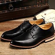Черный / Коричневый / Бордовый Мужская обувь Для офиса / На каждый день Кожа Оксфорды