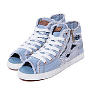 Women's Shoes 2015 New Summer Jeans Old Hollow Female Roman Casual Zipper Canvas