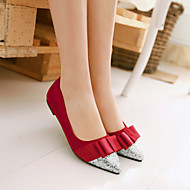 Women's Shoes  Flat Heel Ballerina/Pointed Toe Flats Office & Career/Casual Black/Red