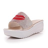 נשים-סנדלים-מיקרופייבר-נעלי מועדון--יומיומי-עקב וודג'