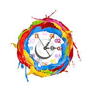 pag®modern 3d эффект красочные картины краской стены часы 15.7 * 15.9 дюйм / 40 * 40,4 см
