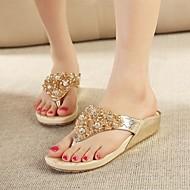 Women's Shoes Wedge Heel/Open Toe/Flip Flops/Casual/Gold/Silver
