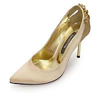 Women's Spring / Summer / Fall / Winter Heels / Pointed Toe Silk / Glitter Wedding / Dress / Party & Evening Stiletto HeelCrystal /