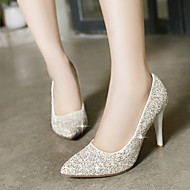 Women's Shoes Glitter Stiletto Heel Heels/Pointed Toe Pumps/Heels Dress Red/White/Gold