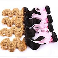 1 pcs beaucoup brésilienne vierge de cheveux N ° 27 ondes de corps cheveux humains ombre armure de produits capillaires 8-24 pouces