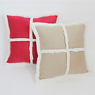 "Decorative/Outdoor/Modern/Contemporary 18"" Square Patchwork Polyester Patchwork Micro Suede Cushion Cover"