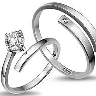Gyűrűk,Ezüst Állítható Parti Ékszerek Ezüst Női Vallomás gyűrűk 1db,Egy méret Ezüst