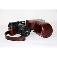 dengpin pu bőr levehető kamera esetében táska fedél vállpánt a Canon EOS m3 eos-m3 (vegyes színek)