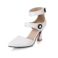 Women's / Girl's Heels Summer / Fall Heels Leatherette Dress Kitten Heel Buckle / Others Pink / Red / White