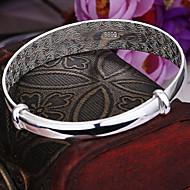 Child's/Women's Round Bangles Bracelet Sterling Silver Non Stone
