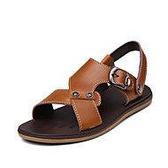 Men's Shoes Outdoor Leather Sandals Brown/Khaki